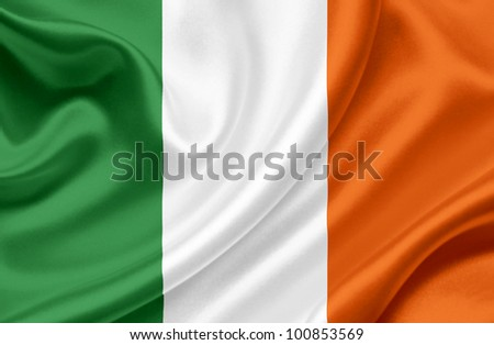 Ireland waving flag - stock photo