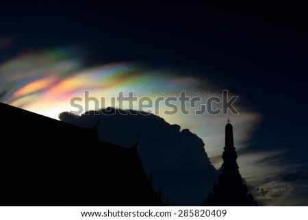 Iridescent pileus cloud / Rainbow clouds