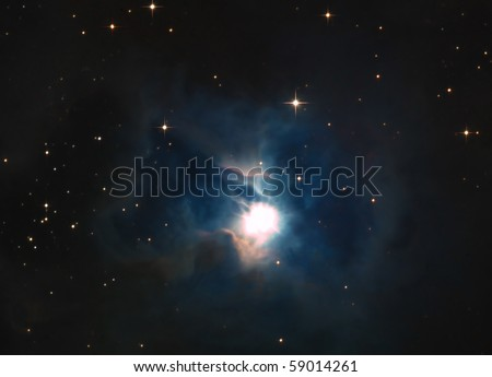 Iris Nebula (NGC 7023 and Caldwell 4) - stock photo
