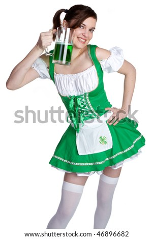 Irish Beer Girl - stock photo
