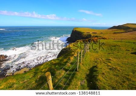 Irish coastline in Springtime - stock photo