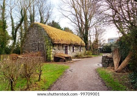Irish cottage house - stock photo