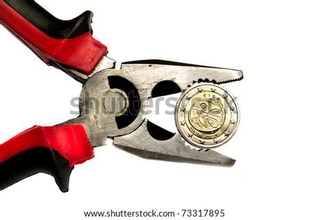 Irish euro under pressure - stock photo