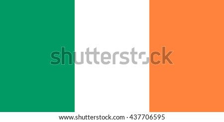 Irish flag in correct proportions and colors - stock photo