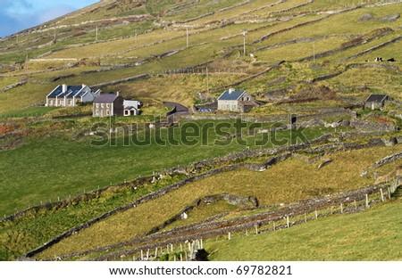 Irish landscape - Co. Kerry - stock photo