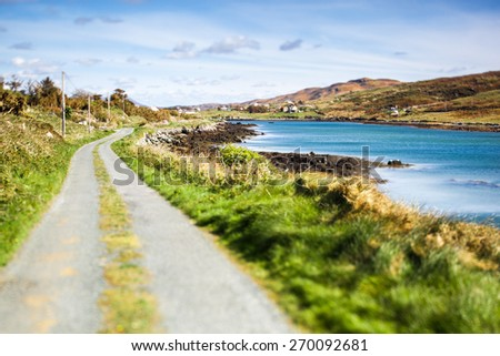 Irish Landscape in Summer - stock photo