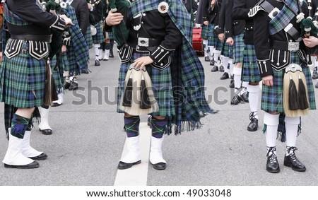 Irish musicians - stock photo