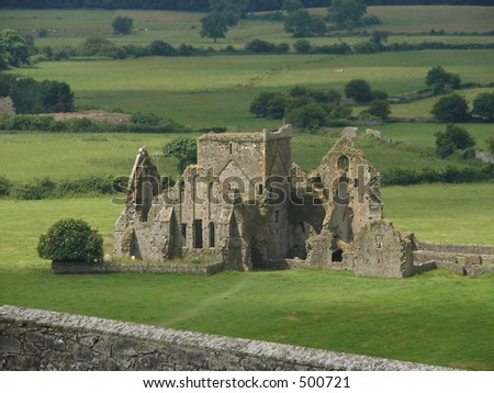 irish ruins - stock photo