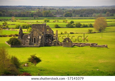 Irish Ruins Cashel, Ireland - stock photo