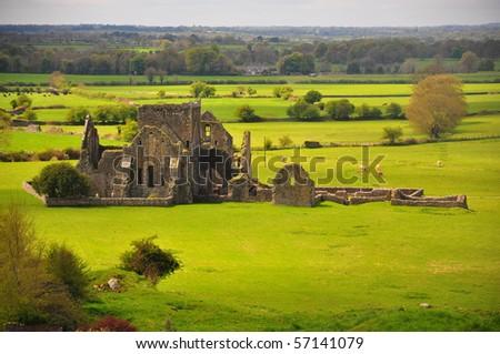 Irish Ruins Cashel, Ireland - stock photo