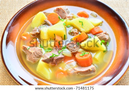Irish stew for Patrick's Day - stock photo