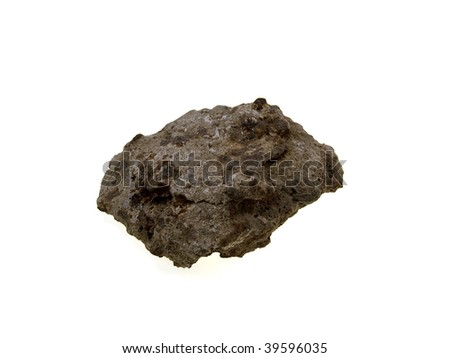 Iron an ore stone isolated on a white background - stock photo