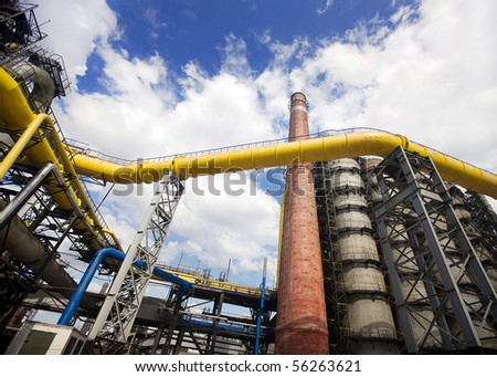 iron and steel works - stock photo