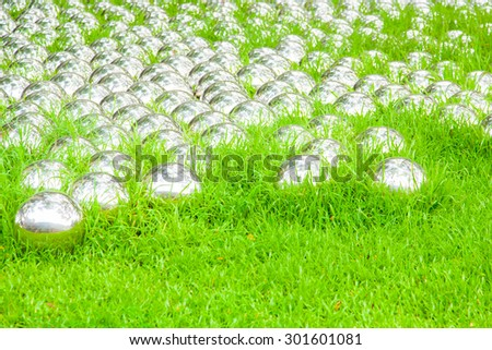 iron balls on the ground - stock photo