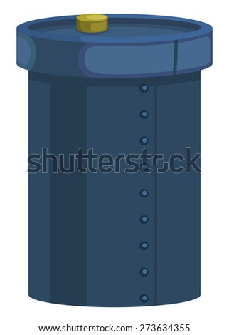 Iron barrel with stopper on a white background