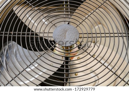 Iron blades fan of air conditioner