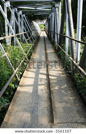 Iron bridge - stock photo