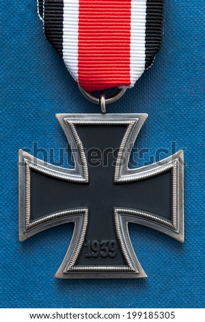 iron cross medal german military world war two swastika removed - stock photo