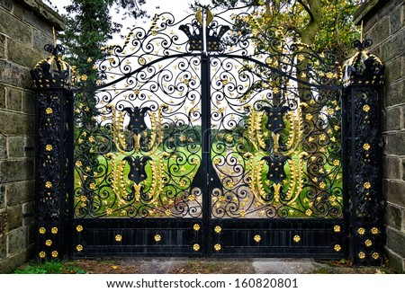 iron entrance gates