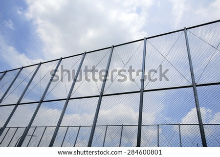 iron  fence with sky background