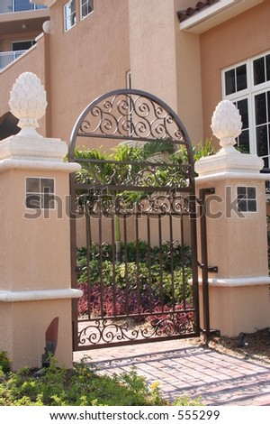 Iron gate - stock photo