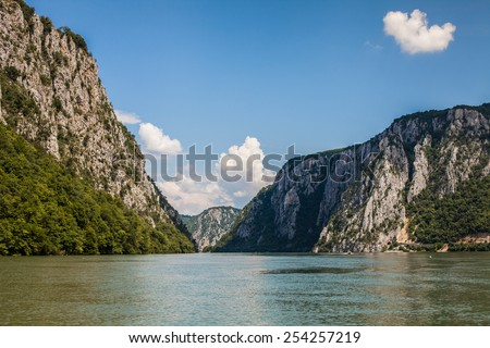 Iron gates national park, Serbia, Romania - stock photo