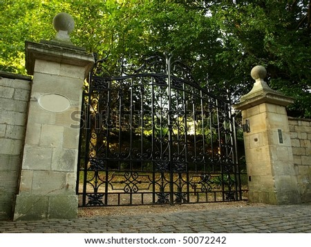 Iron Gates of a Stately Home