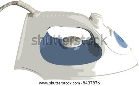 Iron illustration - stock photo