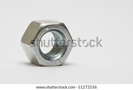 Iron nut macro - stock photo