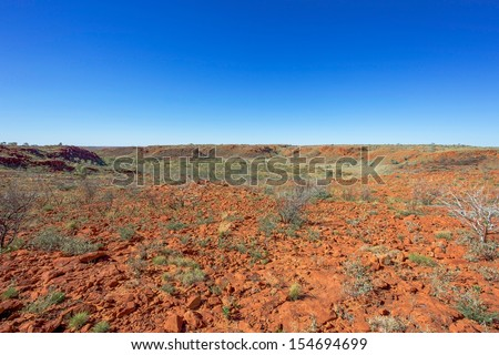 Iron ore Country in the Pilbara region of Western Australia.