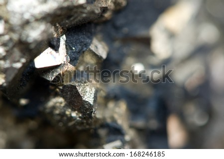 Iron ore. Macro - stock photo