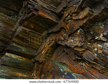 Iron ore texture - nature background - stock photo
