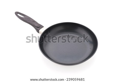 Iron pan isolated on white background - stock photo