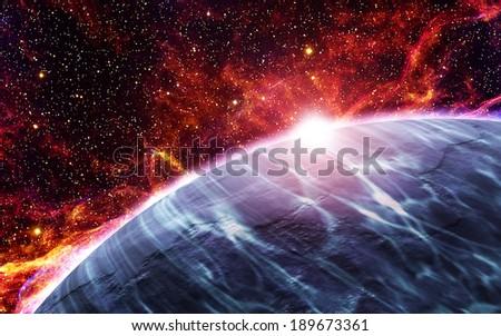 Iron Planet - stock photo