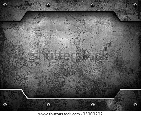 iron plate - stock photo