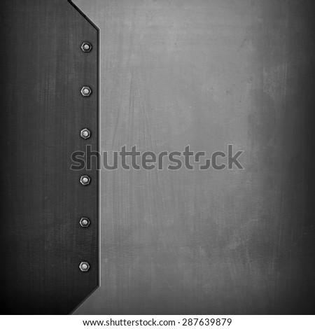 iron plate background - stock photo