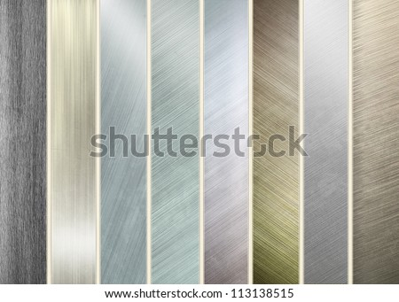 iron plate - collection of aluminum textures - stock photo