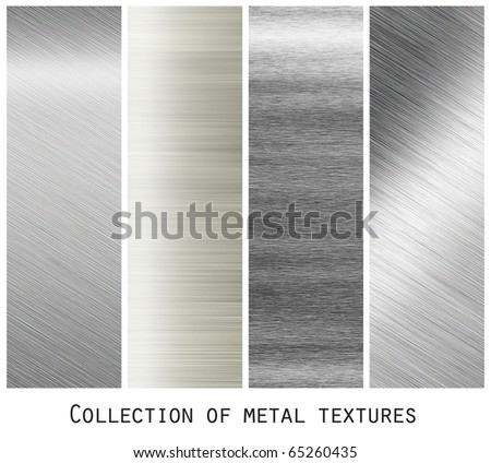iron plate - collection of metal textures - stock photo