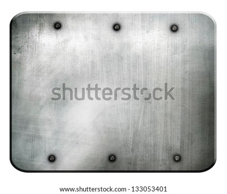 iron plate isolated