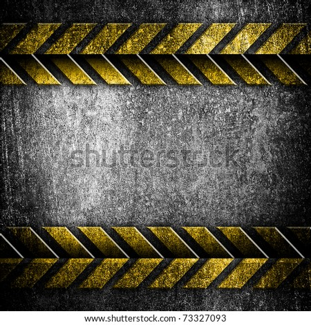 iron plate with arrow pattern - stock photo