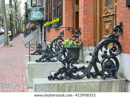 Iron railings - stock photo