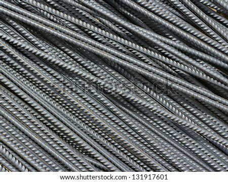 iron reinforcement rods in the background - stock photo