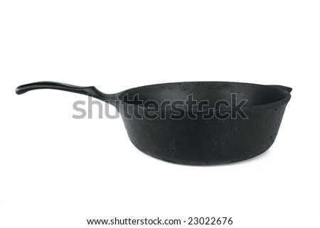 Iron Skillet Isolated - stock photo
