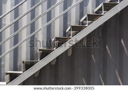 iron staircase - stock photo