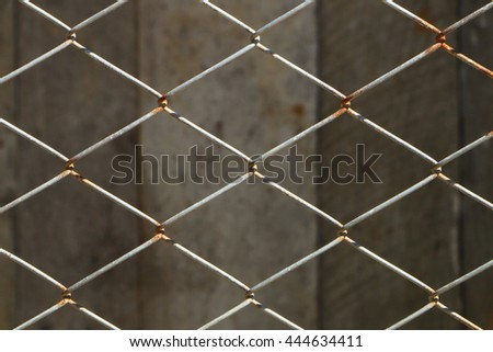 Iron steel net mesh wall