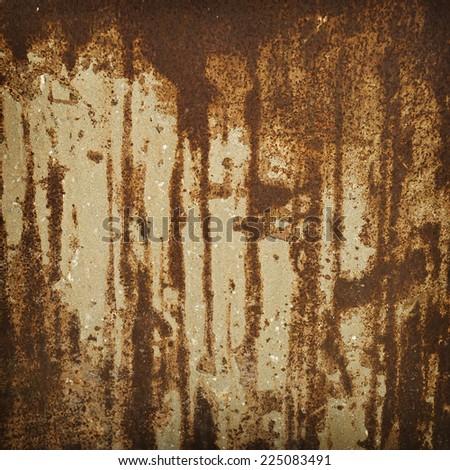 Iron surface rust - stock photo