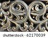 iron swirl decorative design - stock photo
