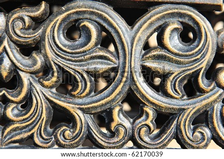 iron swirl decorative design - stock photo