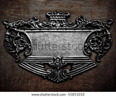 iron tablet background - stock photo