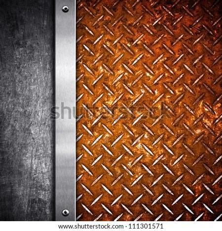 iron template - stock photo